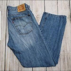 Levi's 514 Slim Straight Leg denim jeans 36 X 32